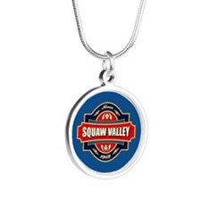 Squaw Valley Old Label Silver Round Necklace