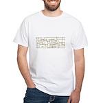Fuck you Hidden Design White T-Shirt