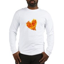 Unique Red heart hearts i love jesus Long Sleeve T-Shirt