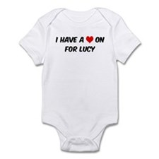 Heart on for Lucy Infant Bodysuit