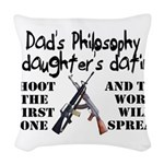 Dad's Philosophy Woven Throw Pillow
