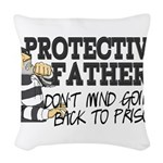 Protective Fathers Woven Throw Pillow