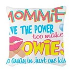 Just One Kiss Woven Throw Pillow