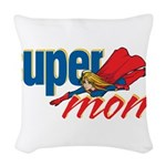 SuperMom Woven Throw Pillow