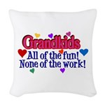 Grandkids - All the fun! Woven Throw Pillow