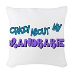 crazy about grandbabies.png Woven Throw Pillow