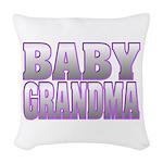 Baby Grandma Woven Throw Pillow