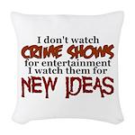 Crime Shows Woven Throw Pillow