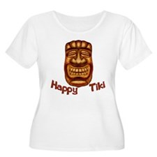 Happy Tiki Plus Size T-Shirt