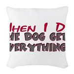 dogeverything.png Woven Throw Pillow