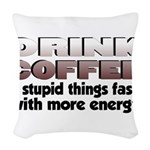 coffeedrink.png Woven Throw Pillow