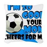 So Good - Soccer Woven Throw Pillow