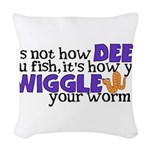 wiggleworm.png Woven Throw Pillow
