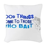 goodthingswhite.png Woven Throw Pillow