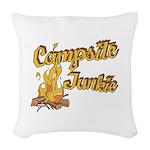 Campsite Junkie Woven Throw Pillow