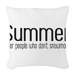 Summer... snowmobile Woven Throw Pillow