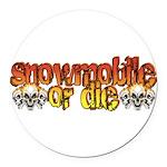 snowdie.png Round Car Magnet