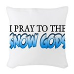 Snow Gods Woven Throw Pillow