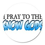 Snow Gods Round Car Magnet