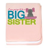 I am going to be a Big Sister baby blanket