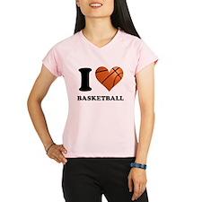 I Heart Basketball Peformance Dry T-Shirt