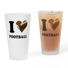 I Heart Football Drinking Glass