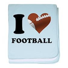 I Heart Football baby blanket
