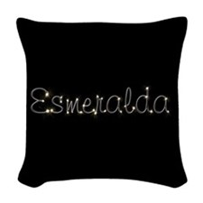 Esmeralda Spark Woven Throw Pillow