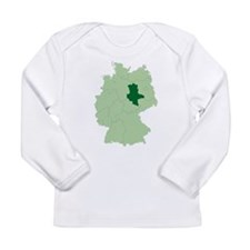 Saxony-Anhalt (map) Long Sleeve T-Shirt