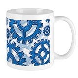 Blue gear wheels Mug