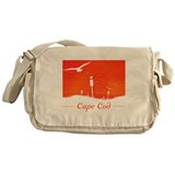 cape cod silhouette Messenger Bag