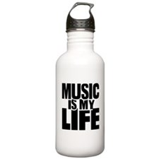 Music is my life Water Bottle