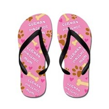 German Pinscher Mom Gift Flip Flops