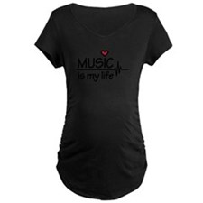 Music is my life heart T-Shirt