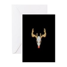 Dead-nosed Reindeer Greeting Cards (Pk of 10)