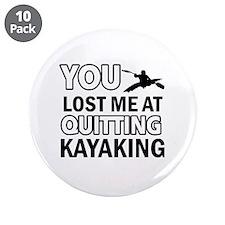 """Hardcore Kayaking designs 3.5"""" Button (10 pack)"""