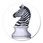 Zebra Knight Round Car Magnet