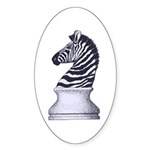 Zebra Knight Sticker (Oval 50 pk)