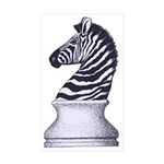 Zebra Knight Sticker (Rectangle 50 pk)
