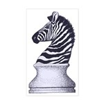 Zebra Knight Sticker (Rectangle)