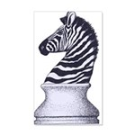 Zebra Knight 35x21 Wall Decal