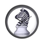Zebra Knight Wall Clock