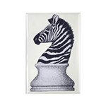 Zebra Knight Rectangle Magnet (10 pack)