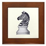 Zebra Knight Framed Tile