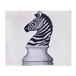 Zebra Knight Throw Blanket