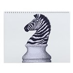 Zebra Knight Wall Calendar
