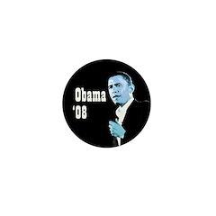 Obama 08 black campaign pin