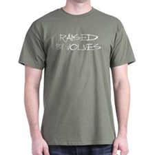 Raised By Wolves Military Green T-Shirt
