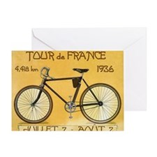 Tour de France, Bicycle, Vintage Poster Greeting C