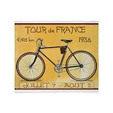 Bicycle vintage Fleece Blankets